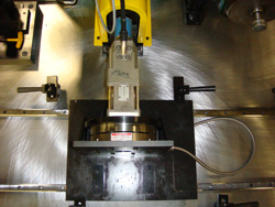 F22 leading edge flap drive system A-Brake unit mounted in test stand