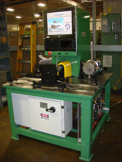F22 leading edge flap drive system A-Brake test stand